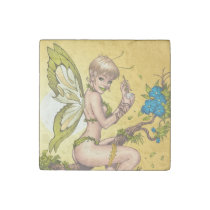 blond, elf, fairy, faerie, al rio, pinup, faeries, illustration, drawing, cute, jungle, [[missing key: type_giftstone_magne]] com design gráfico personalizado