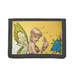 Cute Blond Fairy Drinking In The Sunshine Art Tri-fold Wallets