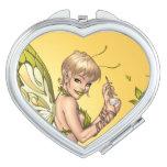 Cute Blond Fairy Drinking In The Sunshine Art Vanity Mirror