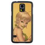 Cute Blond Fairy Drinking In The Sunshine Art Carved® Maple Galaxy S5 Slim Case