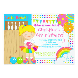 bowling birthday party invitations  announcements  zazzle, Party invitations