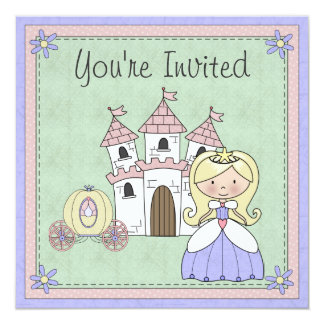 Cute Blond Princess Fairy Tale Birthday Invitation