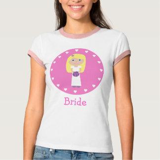 Cute Blonde Cartoon Bride T-Shirt
