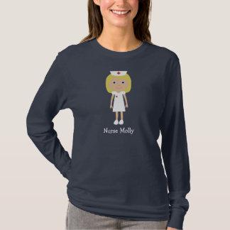 Cute Blonde Cartoon Nurse Character Personalized T-Shirt