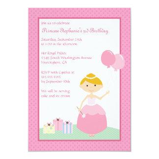Cute blonde princess birthday party invitation