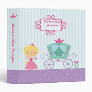 Cute blonde royal princess carriage avery binder
