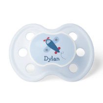 Cute Blue Airplane Pacifier