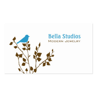 Cute Blue and Brown Bird Double-Sided Standard Business Cards (Pack Of 100)
