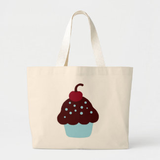 Cute Blue and Brown Birthday Cupcake Bag