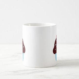 Cute Blue and Brown Birthday Cupcake Coffee Mug