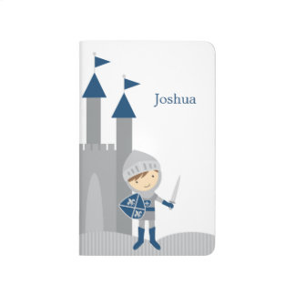 Cute Blue and Gray Knight and Castle Journal