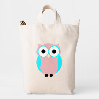 Cute Blue And Pink Owl Bag