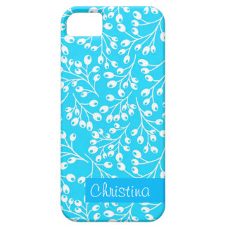 Cute blue and white autumn berries iPhone SE/5/5s case