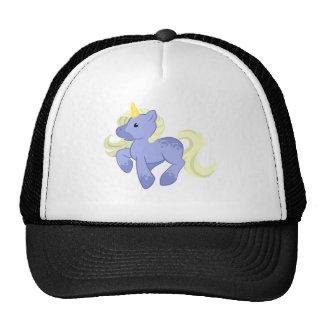 Cute Blue and Yellow Unicorn Mesh Hats