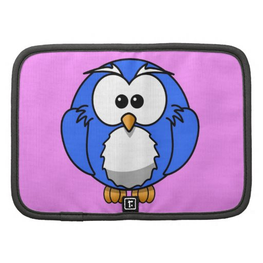 Cute blue animated little owl planners