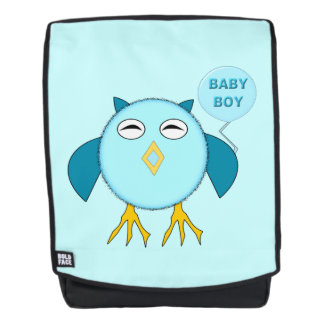 Cute Blue Baby Boy Owl Backpack