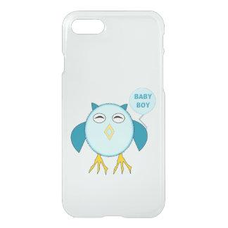 Cute Blue Baby Boy Owl iPhone Case