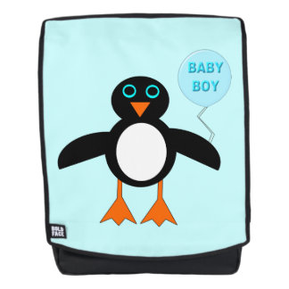 Cute Blue Baby Boy Penguin Backpack