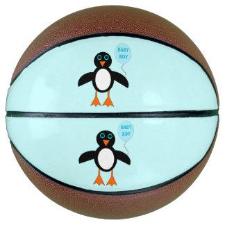 Cute Blue Baby Boy Penguin Basketballs Basketball
