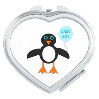 Cute Blue Baby Boy Penguin Compact Mirror