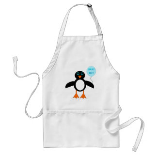 Cute Blue Baby Boy Penguin Cooking Apron