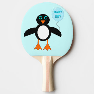 Cute Blue Baby Boy Penguin Ping Pong Paddle