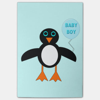 Cute Blue Baby Boy Penguin Post it notes Pad Post-it® Notes
