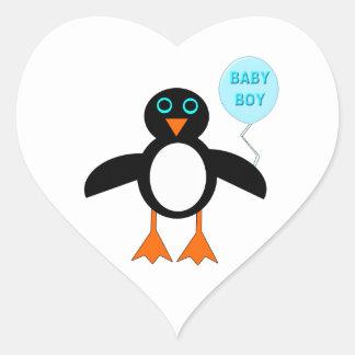 Cute Blue Baby Boy Penguin Stickers