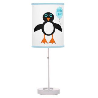 Cute Blue Baby Boy Penguin Table Lamp