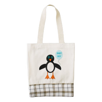 Cute Blue Baby Boy Penguin Tote
