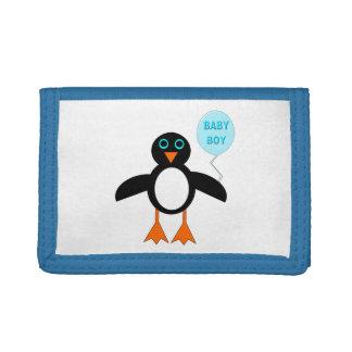Cute Blue Baby Boy Penguin Wallet