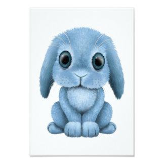 Cute Blue Baby Bunny Card