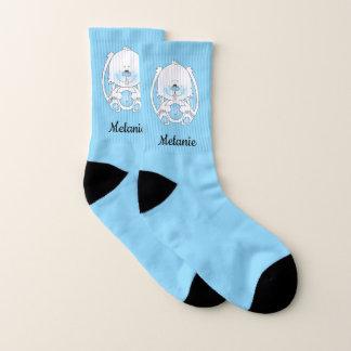 Cute Blue Baby Bunny Cartoon Socks
