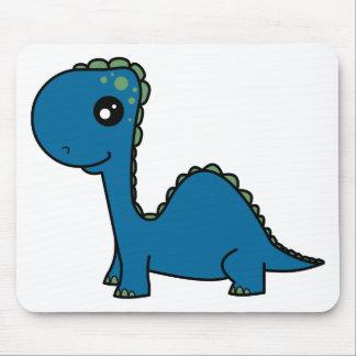 Cute Blue Baby Dinosaur Mouse Pad