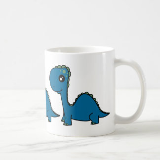 Cute Blue Baby Dinosaur Mugs