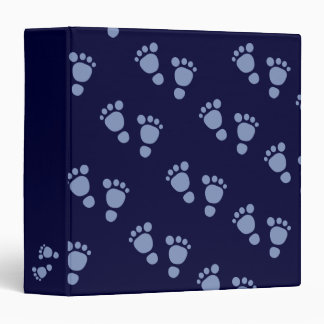 Cute Blue Baby Footprint It's A Boy! Binder