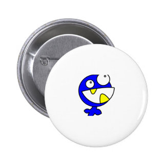 Cute Blue Baby Monster Button