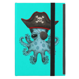 Cute Blue Baby Octopus Pirate Case For iPad Mini