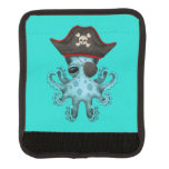 Cute Blue Baby Octopus Pirate Luggage Handle Wrap