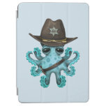 Cute Blue Baby Octopus Sheriff iPad Air Cover