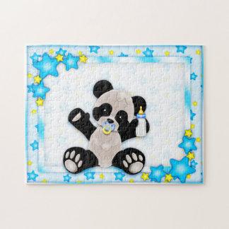 Cute Blue Baby Panda Bear Puzzle