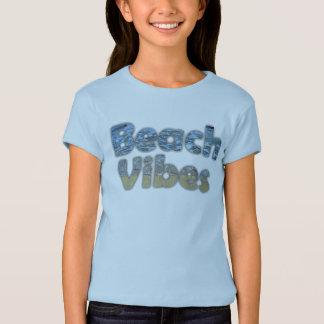 """Cute Blue """"Beach Vibes"""" Girls' Top"""