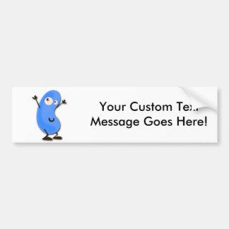 Cute Blue Bean Monster Bumper Sticker