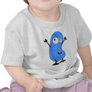 Cute Blue Bean Monster Tee Shirts