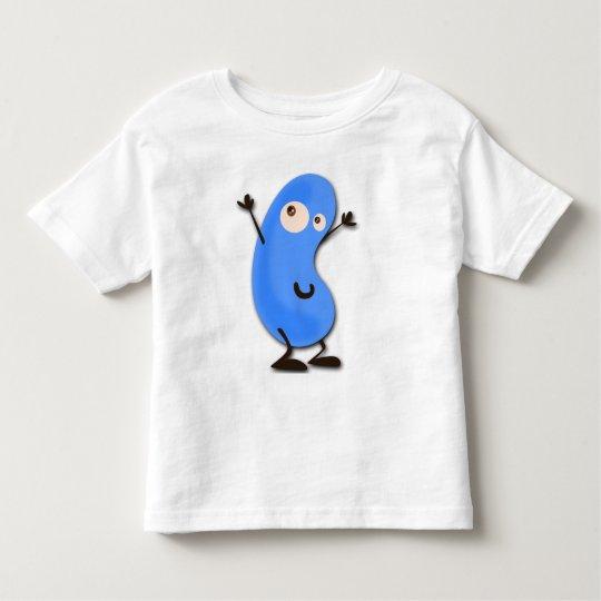 Cute Blue Bean Monster Toddler T-shirt