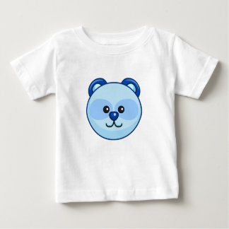 Cute Blue Bear Character Customizable Baby Baby T-Shirt