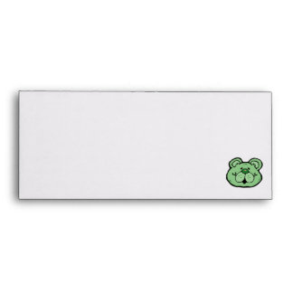 cute blue bear face envelope