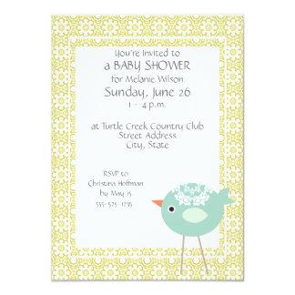 Cute Blue Bird Baby Shower Invitations