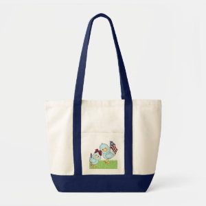 Cute Blue Bird Book Bag bag