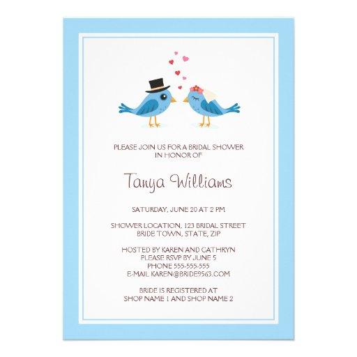 Bird bride groom couple bridal shower 5 quot x 7 quot invitation card zazzle